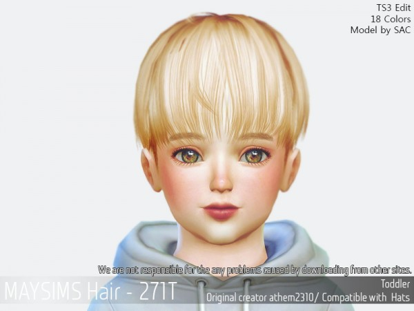 MAY Sims: May 271T hair retextured for Sims 4