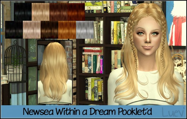 Mertiuza: Newsea`s Within a dream hair retextured for Sims 4