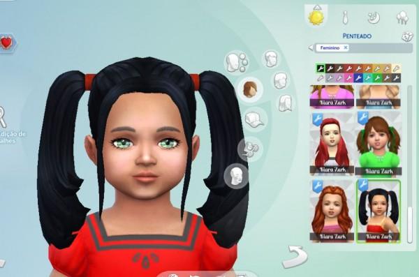 Mystufforigin: Harley Quinn Hairs for Toddlers for Sims 4