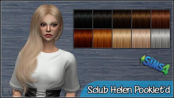 Mertiuza: S`Club`s Helen hair retextured for Sims 4