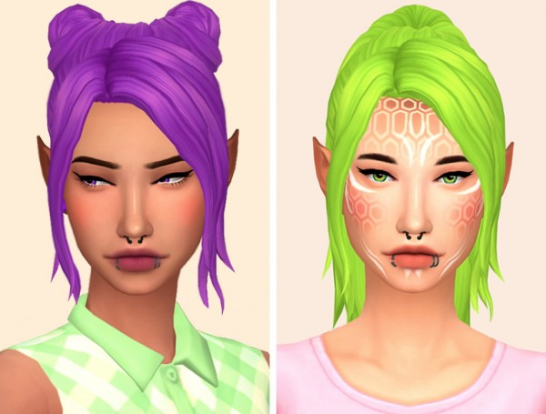 Tranquility Sims: Clumsy and Kira hairs recolored for Sims 4