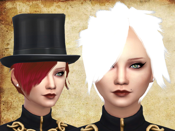The Sims Resource: Emo hair by neissy for Sims 4