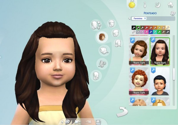 Mystufforigin: Isabella Hairstyle for Toddlers for Sims 4