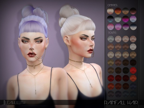 The Sims Resource: Rainfall Hair by LeahLillith for Sims 4