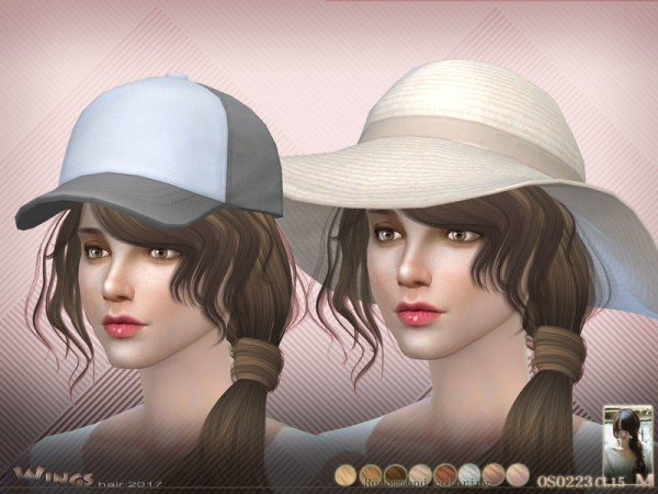 The Sims Resource: OS0223 hair by Wings for Sims 4