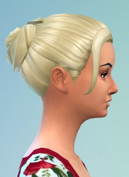 Birksches sims blog: Messy Knot hair for Sims 4