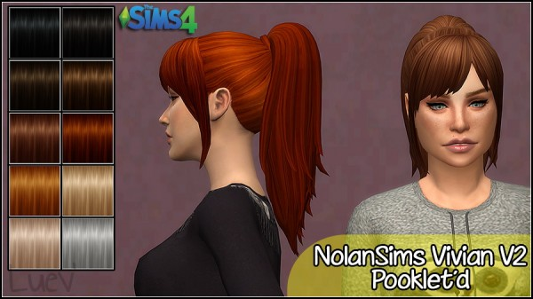 Mertiuza: NolanSims Vivian V 2hair retextured for Sims 4