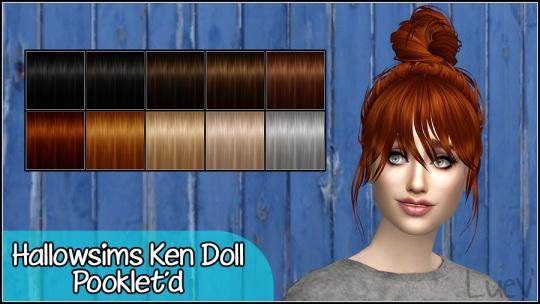 Mertiuza: Haloow`s Ken Doll hair retextured for Sims 4