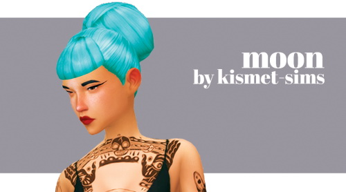 Kismet Sims: Moon hair for Sims 4