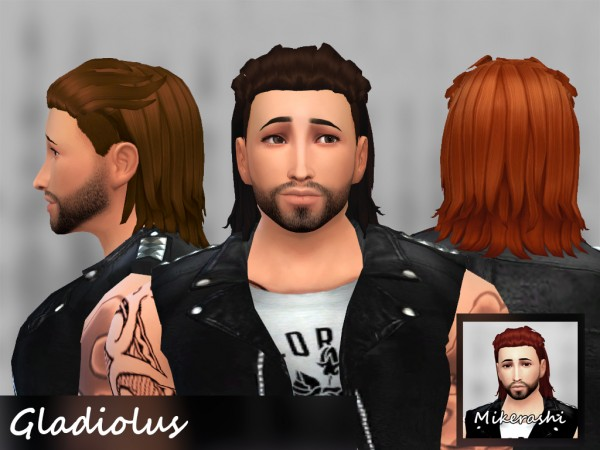 Mikerashi: Gladiolus Hair for Sims 4