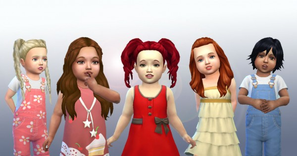 Mystufforigin: Toddlers Hair Pack 4 for Sims 4