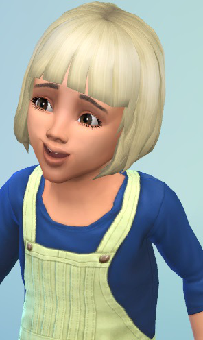 Birksches sims blog: Sweet Bob hair for Toddler for Sims 4