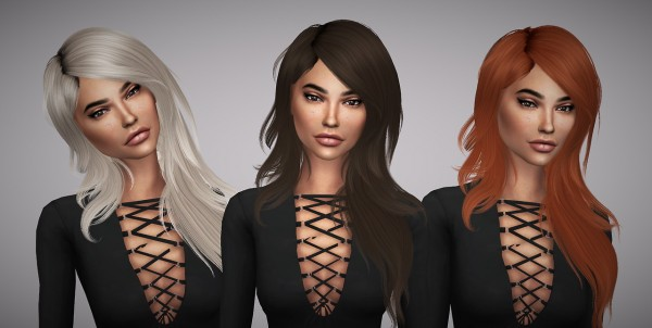Aveline Sims: Hallow`s Serenity hair retextured for Sims 4