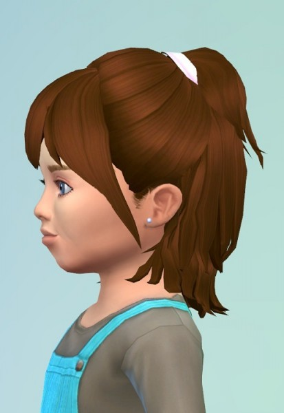 Birksches sims blog: HalfUp ToddlerHair for Sims 4
