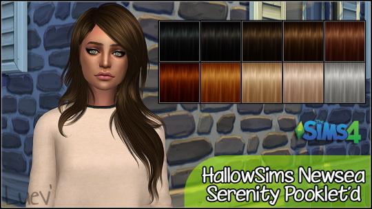 Mertiuza: Newsea`s Serenity hair retextured for Sims 4