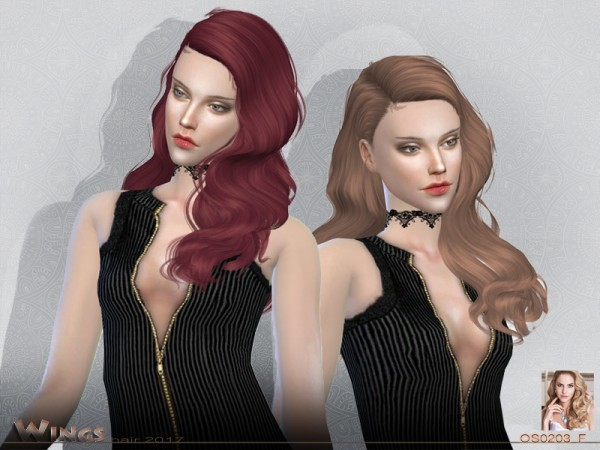 The Sims Resource: Hair OS0203 F by Wings Sims for Sims 4