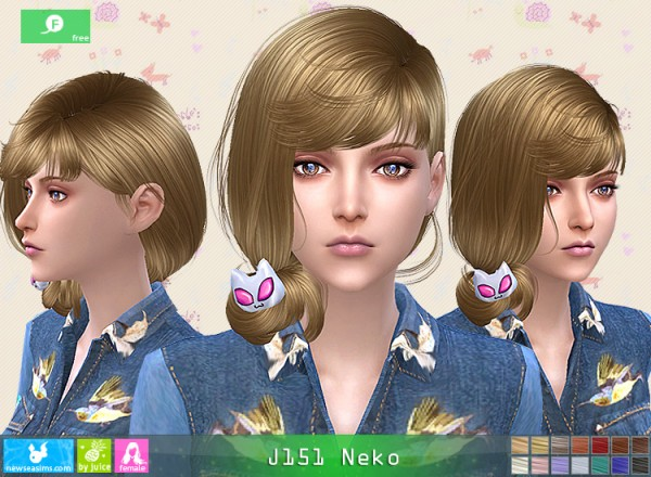 NewSea: J151 Neko hair for Sims 4