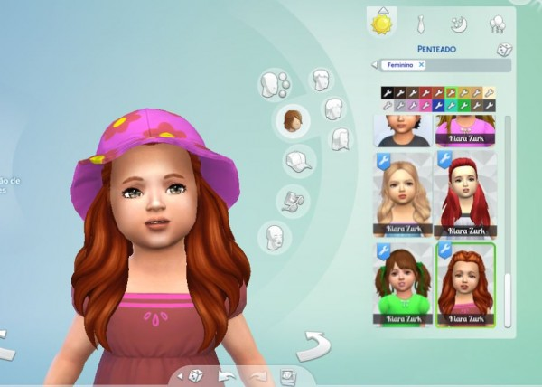 Mystufforigin: Creative Braids for Toddlers for Sims 4