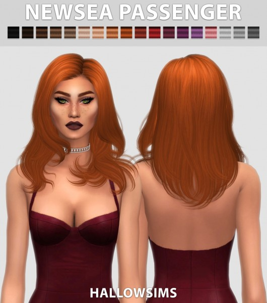 Hallow Sims: Newsea`s Passenger hair retextured for Sims 4
