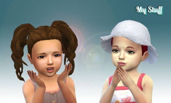 Sims 4 Hairs Mystufforigin Curls Pigtails For Toddlers