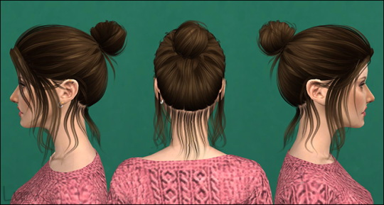 Mertiuza: Anto`s Blossom hair retextured for Sims 4