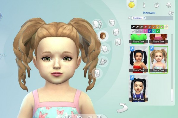 Mystufforigin: Curls Pigtails for Toddlers for Sims 4