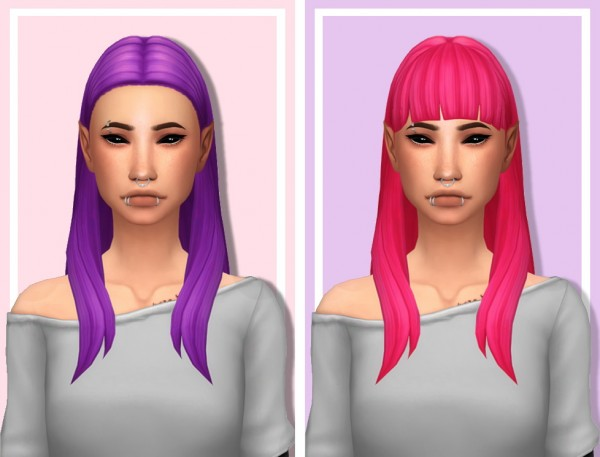 Tranquility Sims: Hyena V1 and V2 hair recolored for Sims 4