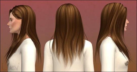 Mertiuza: Anto`s Sunrise hair retextured for Sims 4