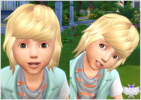 David Sims: Spikey Hair for Toddlers for Sims 4