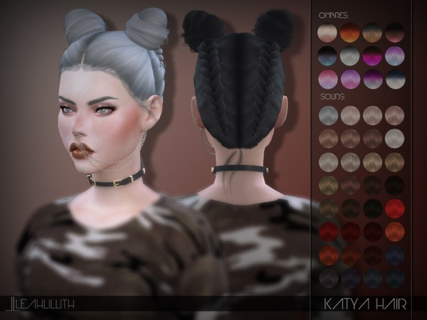 The Sims Resource: Katya Hair by LeahLillith for Sims 4