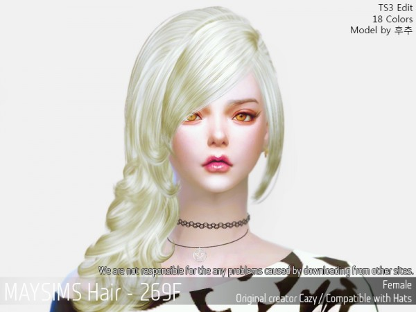 MAY Sims: May 269F hair retextured for Sims 4