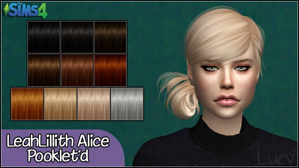 Mertiuza: LeahLillith`s Alice hair retextured for Sims 4