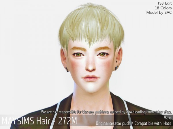 MAY Sims: May 272M hair retextured for Sims 4