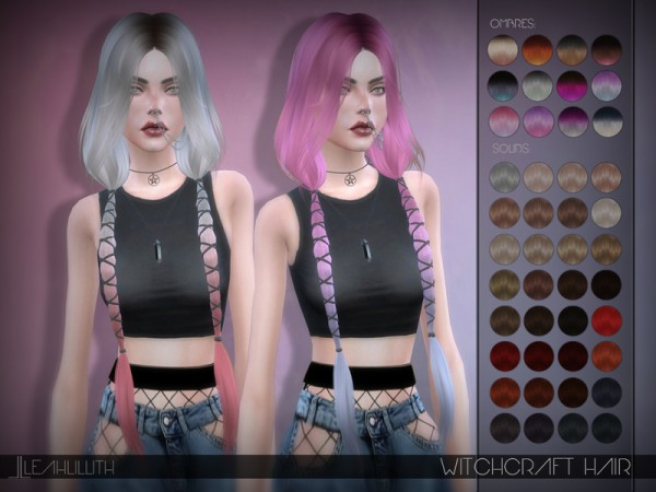 The Sims Resource: Witchcraft Hair by LeahLillith for Sims 4