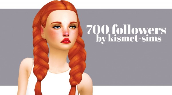 Kismet Sims: 700 followers gift hairs for Sims 4