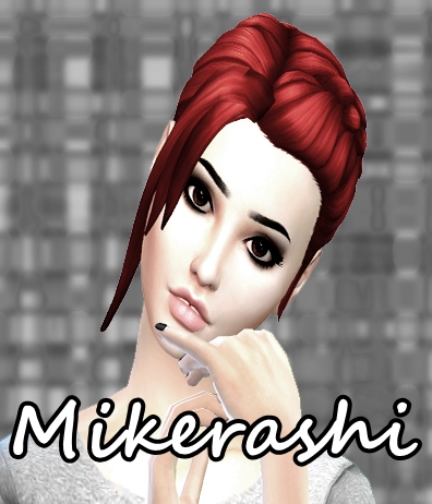 Mikerashi: Cheerful hair for Sims 4