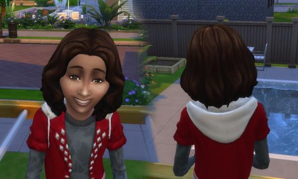 Mystufforigin: Barbara hair retextured for Sims 4