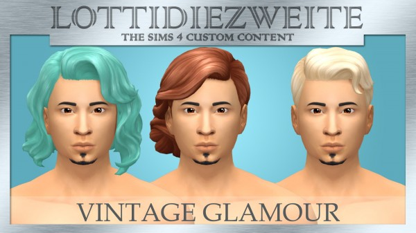 Simsworkshop: Vintage Glamour hair recolours for Sims 4