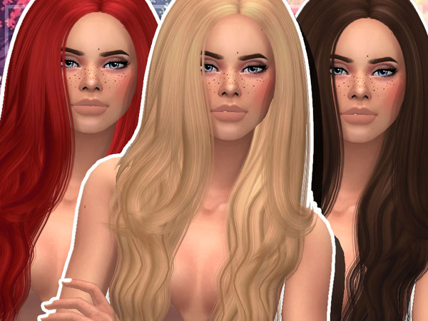 The Sims Resource: Ade`s Marina Clayified hair by AwesomeSimmerYT for Sims 4