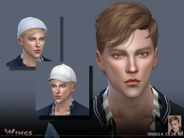 The Sims Resource: Hair OS0214 by wingssims for Sims 4