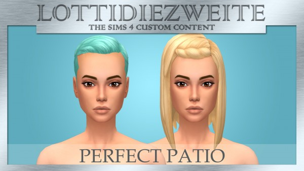 Simsworkshop: Perfect Patio hair recolours by lottidiezweite for Sims 4