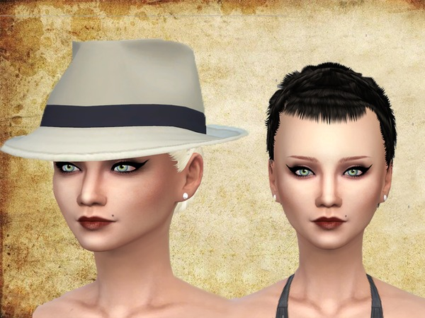 The Sims Resource: Short hair by Neissy for Sims 4