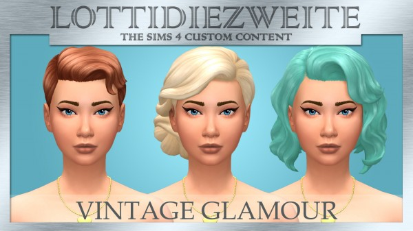 Simsworkshop: Vintage Glamour hair recolours by lottidiezweite for Sims 4