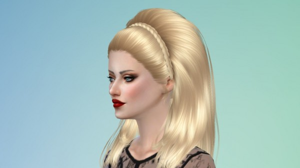 Tsminh Sims: New braids for Britney Spears hair for Sims 4