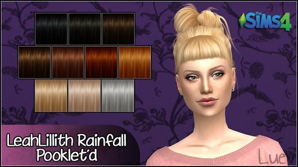 Mertiuza: LeahLillith`s Rainfall hair retextured for Sims 4