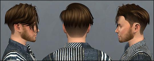 Mertiuza: Anto`s Echo hair retextured for Sims 4