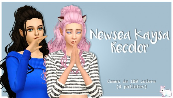 Miss Bunny Gummy: Newsea`s Kaysa clayified for Sims 4