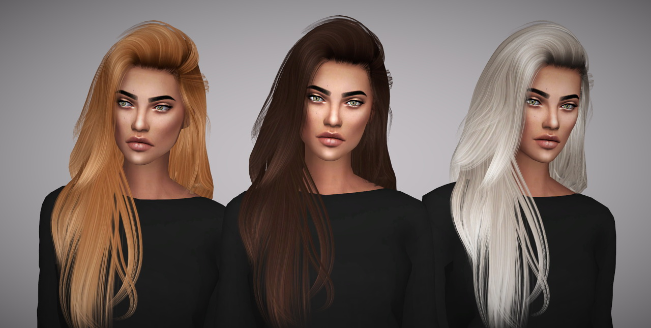 Sims 4 Hairs Aveline Sims Hallow S Raon 36 Hair Retextured