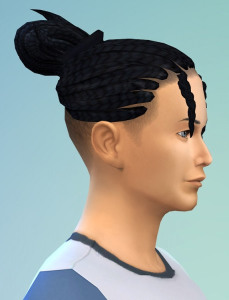 Birksches sims blog: Shaved Braids Pony for Sims 4