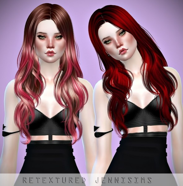 Jenni Sims: Newsea`s Sand Glass hair retextured for Sims 4